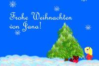 Jana-Weihnachtskarte